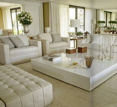 We Home Design — All white living room. Home Living Room, Room Design, Interior, Home N Decor, Home, House Interior, Interior Design, Living Decor, Home And Living