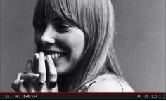 Headshot portrait of American musician Joni Mitchell smiling with her hands over her mouth. This image was from a photo shoot for the fashion magazine Vogue. Mitchell wears two rings on her hand and is in a white loose-fitting white cotton dress. Big Yellow Taxi, A Case Of You, Singer Songwriter, A Well Traveled Woman, Photo Star, Shows, Bruce Springsteen, Music Lyrics, Music Music