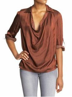 Vince cowl neck blouse in Henna ($140 from Last Call)- lust