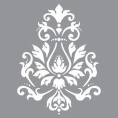 Create vintage style home decor pieces using Americana Decor Stencils and Chalky Finish Paint. These stencils work well on furniture as well as on smaller decorative items. Each stencil measures x Damask Stencil, Stencil Patterns, Stencil Designs, Tree Stencil, Stencils Mandala, Chalky Finish Paint, Graphisches Design, Graphic Design, Hungarian Embroidery
