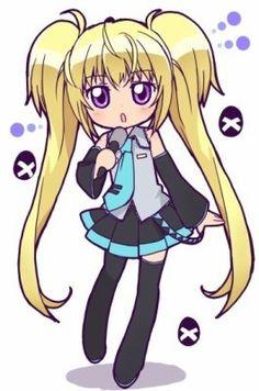utau de shugo chara façon chibi, trop kawaii Elle a aussi pris du miku hatsune !