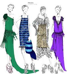 ilustraciones de moda de miu miu - Buscar con Google