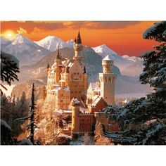 schloss neuschwanstein castle in bavaria, germany in the winter. I want to go to a real castle. Beautiful Places In The World, Places Around The World, Around The Worlds, Beautiful People, Places To Travel, Places To See, Photo Chateau, Sleeping Beauty Castle, Germany Castles