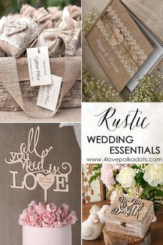 Find everything you need to achieve the rustic wedding look you've always dreamed of. From wooden cake toppers to burlap favors bags, we have all the little touches that will make your theme come to life. Shop the look today at 4lovepolkadots.com.