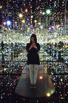 """""""Infinity Room"""" ~ A giant mirrored space with hundreds of hanging lights. When entered, it gives the appearance of floating in space."""