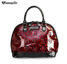 You'll look ferocious rocking this bold and stylish bright red skull and leopard satchel!  http://www.loungefly.com/brands/loungefly/bags/loungefly-red-leopard-skull-patent-embossd-bag.html