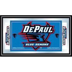 Trademark Global DePaul University Logo and Mascot Framed Mirror - LRG1525-DEP
