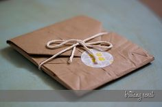 CD case from brown bag