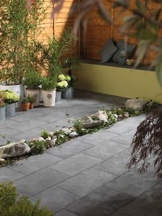 Ashbourne Weathered grey Paving set Pack of 48 - B&Q for all your home and garden supplies and advice on all the latest DIY trends Grey Paving, Paving Slabs, Landscaping Supplies, Garden Supplies, Grey Exterior, Garden Seating, Dark Grey, New Homes, Home And Garden