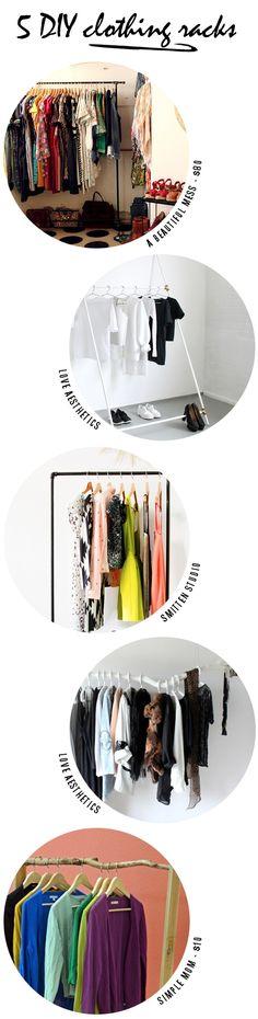 5 great DIY clothes racks