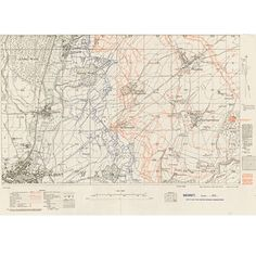 Map of the Somme Warfare, Vintage World Maps