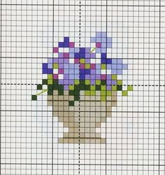 miniature needlework chart-use for pincushions, small bags Tiny Cross Stitch, Cross Stitch Cards, Beaded Cross Stitch, Modern Cross Stitch, Cross Stitch Flowers, Cross Stitch Designs, Cross Stitching, Cross Stitch Embroidery, Embroidery Patterns