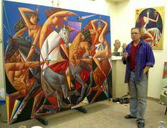 The Battle of Amazons and Centaurs - in progress Georgy Kurasov