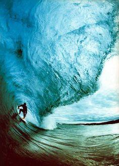 Under a big big big wave!
