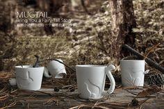 ZAKKA Ceramic Mug Cup white cat/rabbit/squirrel/fawn animal milk cup Lovers Mug Cute Birthday Gift,Christmas Gift