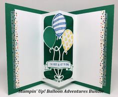 Creating a Birthday Card with the Balloon Adventure Bundle!! Kay Kalthoff, Stampin' Up!, Pop Up Card, How To Video, #stampingtoshare