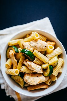 Spicy Chicken Pasta Salad with fennel and zucchini [recipe] - Crepes of Wrath Recipes - Spicy Chicken Pasta, Chicken Fennel, Chicken Pasta Recipes, Pasta Salad Recipes, Chicken And Vegetables, Chicken Crepes, Chicken Ideas, Spicy Recipes, Italian Recipes