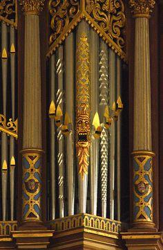 painted organ pipes