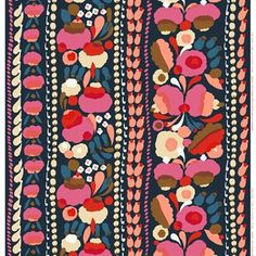 The beautiful Tuppura pattern from the Finnish brand Marimekko was designed by Aino-Maija Metsola. This colorful fabric adds a delicate touch to your home and is perfect for making your own curtains, cushion covers or other interior details. Choose among several colors and combine with other Marimekko products.