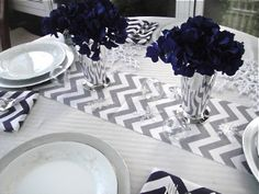 CHEVRON Table Runner Available in Different by simplydivinebyjoann