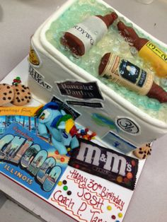 Happy 30th Birthday! Say it with style, lots of detail & a cooler of your favorite drinks...everything is customized! Cakes by Graham - More Than Just the Icing on the Cake