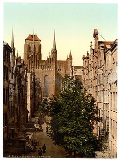 A collection of old postcards of Gdansk (Danzig) in Poland. Danzig, Beautiful Buildings, Beautiful Places, Gdansk Poland, Poland Travel, Prussia, Historical Photos, Old Photos, Wwii