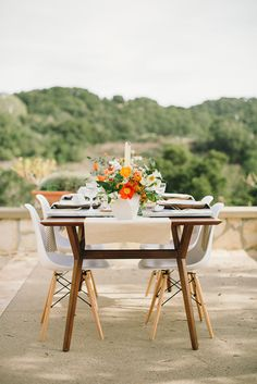 reception table - photo by Delbarr Moradi http://ruffledblog.com/romantic-vow-renewal-after-10-years