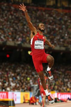 Mike Hartfield of the United States competes in the Men's Long Jump final during day four of the 15th IAAF World Athletics Championships Beijing 2015 at Beijing National Stadium on August 25, 2015 in Beijing, China.