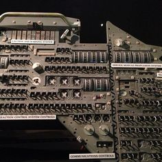 Can you imagine flying to the moon using this (Apollo spacecraft control panel)?