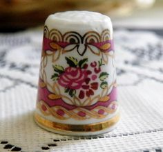 Hammersley Bone China Floral Thimble Made in England #Hammersley