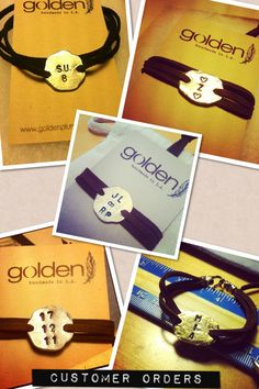 Perfect last minute #holiday #gift Mens Custom Made Gold or Silver Personalized by GoldenPlumeJewelry, $35.00