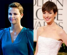 The Post-Movie Pixie Hairstyle: Charlize Theron vs. Anne Hathaway -- POLL