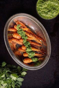 Cumin Roasted Carrots with Cilantro Chimichurri {Gluten-free and Vegan} // Tasty Yummies
