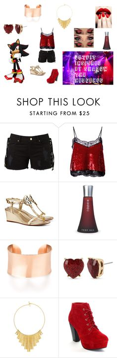 """""""Female Shadow the Hedgehog (Clubbing)"""" by emily-jane-coonick on Polyvore featuring Amapô, Ashish, Tory Burch, HUGO, Betsey Johnson and BERRICLE"""