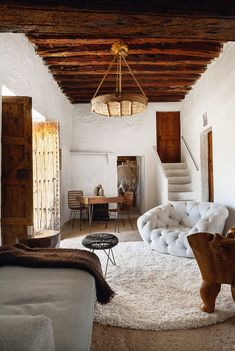 This beautiful home on the island of Ibiza, Spain, is about 400 years old. The estate, which is surrounded by almond trees, cactus and olive trees, is owned by a couple from New York who fell in love