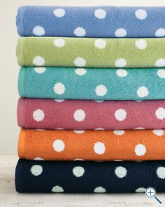 Polka dot towels!  These would look mega cute paired with matching solid colored towels.