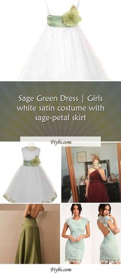 """""""Sage Green Dress, this is the subject of this title... Hey my dear follower. We have patched up these 4 Sage Green Dress pins from 451+ different images for you. While doing this, Our Editors paid attention to the fact that there are designs that can be popular in this year and many more. Please click on the 'Read More' button to get the rest of the content associated to the Sage Green Dr... White Satin Dress, Satin Dresses, Sage Green Dress, Tulle, Girls Dresses, Rest, Content, Costumes, Popular"""