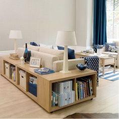 Simple Living Room Storage Idea