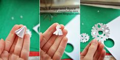 DIY Christmas cards with snowflakes
