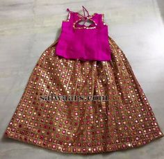 Mirror work Simple Baby Lehenga - Indian Dresses