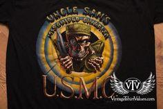 USMC Uncle Sam's Misguided Children T-Shirt, Vintage 90s, Marines