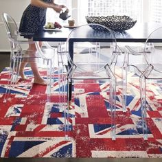 Ghost chairs + Union Jack = Perfection