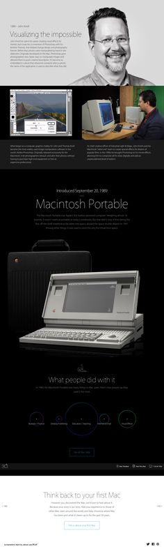 "Apple Mac @30 2014-01-24 off'l Anniversary mini site: USA ""Apple - Thirty Years of Mac"" - page: 1989 inventing digital Photo manipulation through Photoshop: John Knoll • http://www.apple.com/30-years/1989"