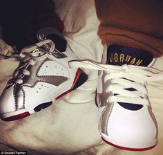 5f087d7c0d27 Snooki shares picture of Lorenzo in his Air Jordans... day after baby Milan  rocked a pair of Nikes