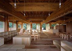 Asahi Kindergarten | @Archilovers | #wood #madera #techo #deco #design #architecture