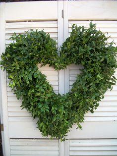 boxwood heart wreath. $25.00, via Etsy.