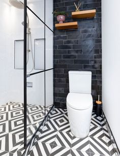 The Block NZ: Week Two family bathroom room reveal The Block Nz, Inside Home, Family Bathroom, Homes, Graphite, Bathroom, Houses, Home, At Home