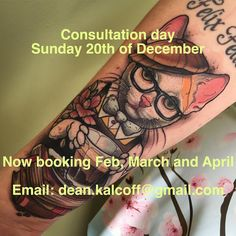 Hey all, I am having a consultation day this coming Sunday the 20th of dec. If you would like to come in for a consult please email me dean.kalcoff@gmail.com and be sure to put consult day in the subject field. If you can't make it in for the consult day email and we can do a consult and booking over email. I am taking bookings for Feb-April but I also have a couple of days left in Jan ✌