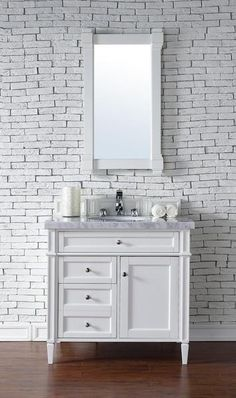"22"" JAMES MARTIN BRITTANY COTTAGE WHITE BATHROOM VANITY MIRROR #JamesMartinFurniture #Traditional"