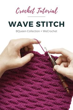 Crochet Stitches For Blankets, Crochet Shawls And Wraps, Crochet Stitches Patterns, Knitting Stitches, Crochet Wave Pattern, Slip Stitch Crochet, Crochet Wool, How To Crochet, Afghan Crochet